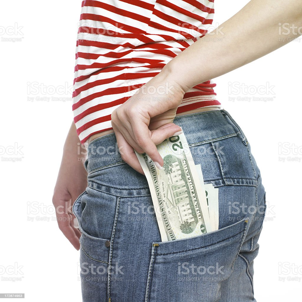Pocket Money royalty-free stock photo
