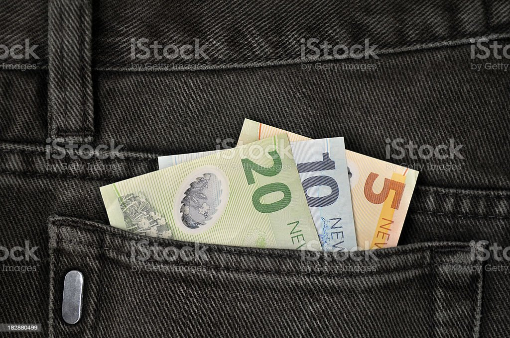 Pocket money stock photo