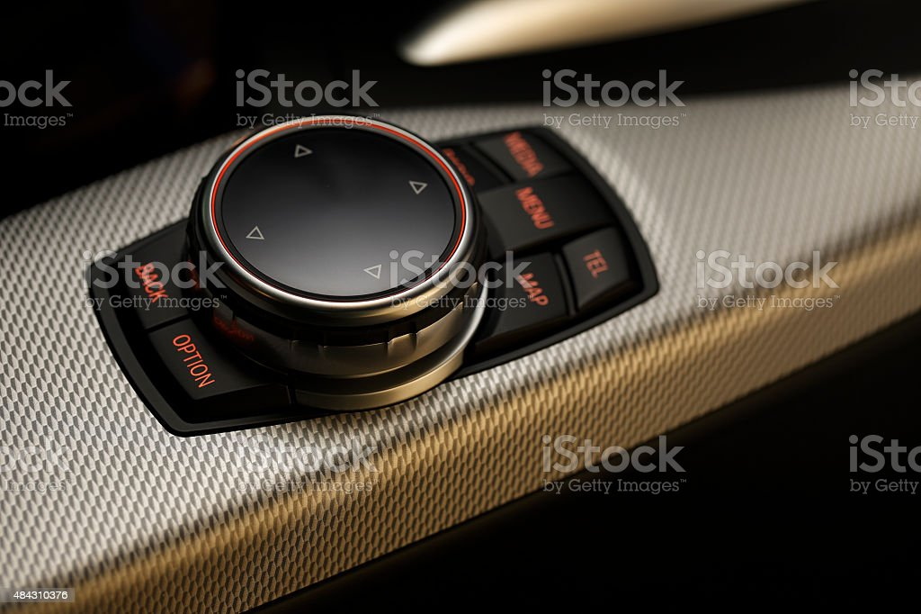 Pocket navigation console stock photo