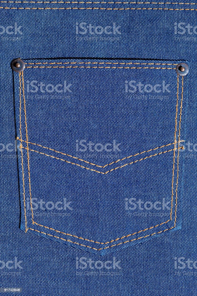Pocket on jeans. royalty-free stock photo