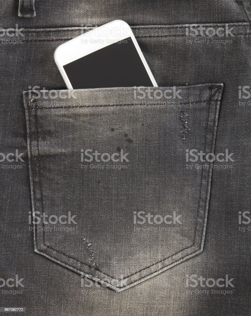 Pocket phone stock photo