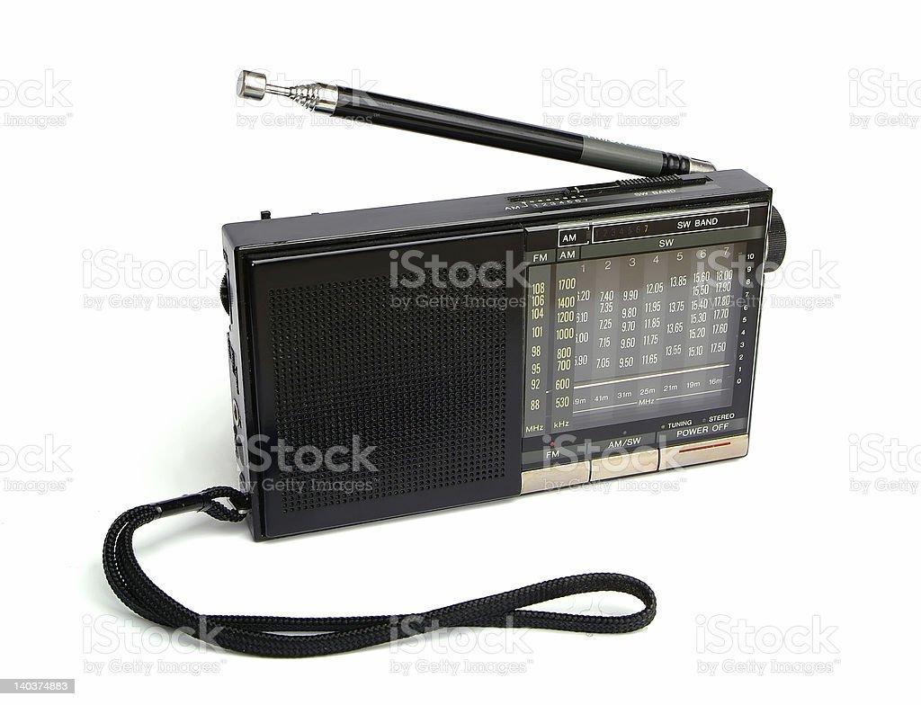 pocket radio stock photo
