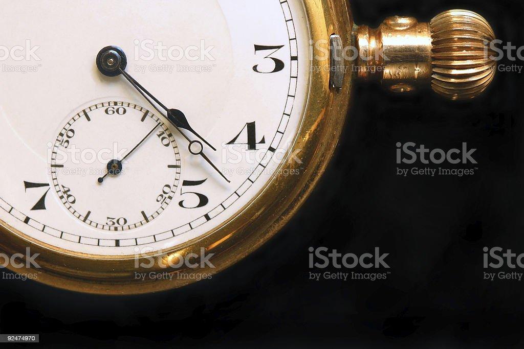 Pocket Watch 1931 Detail royalty-free stock photo