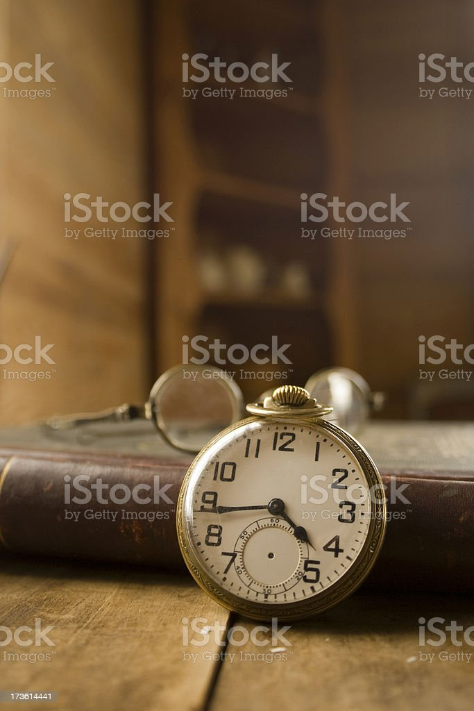 Pocket Watch and Antiques stock photo