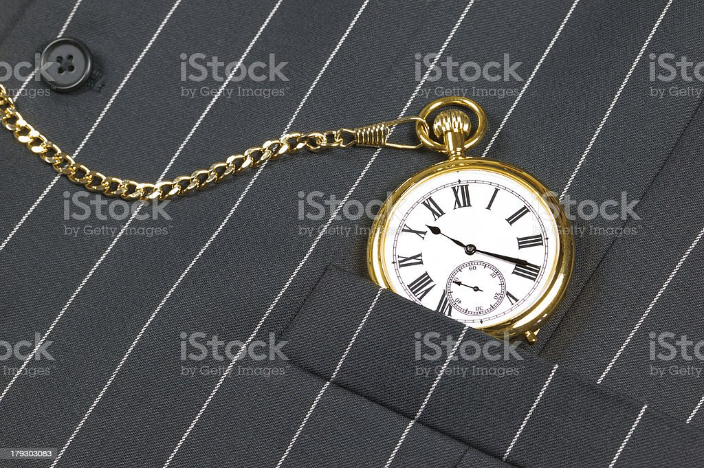 Pocket watch and waistcoat royalty-free stock photo
