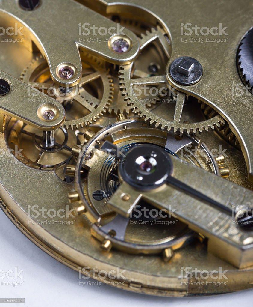 pocket watch clockwork stock photo