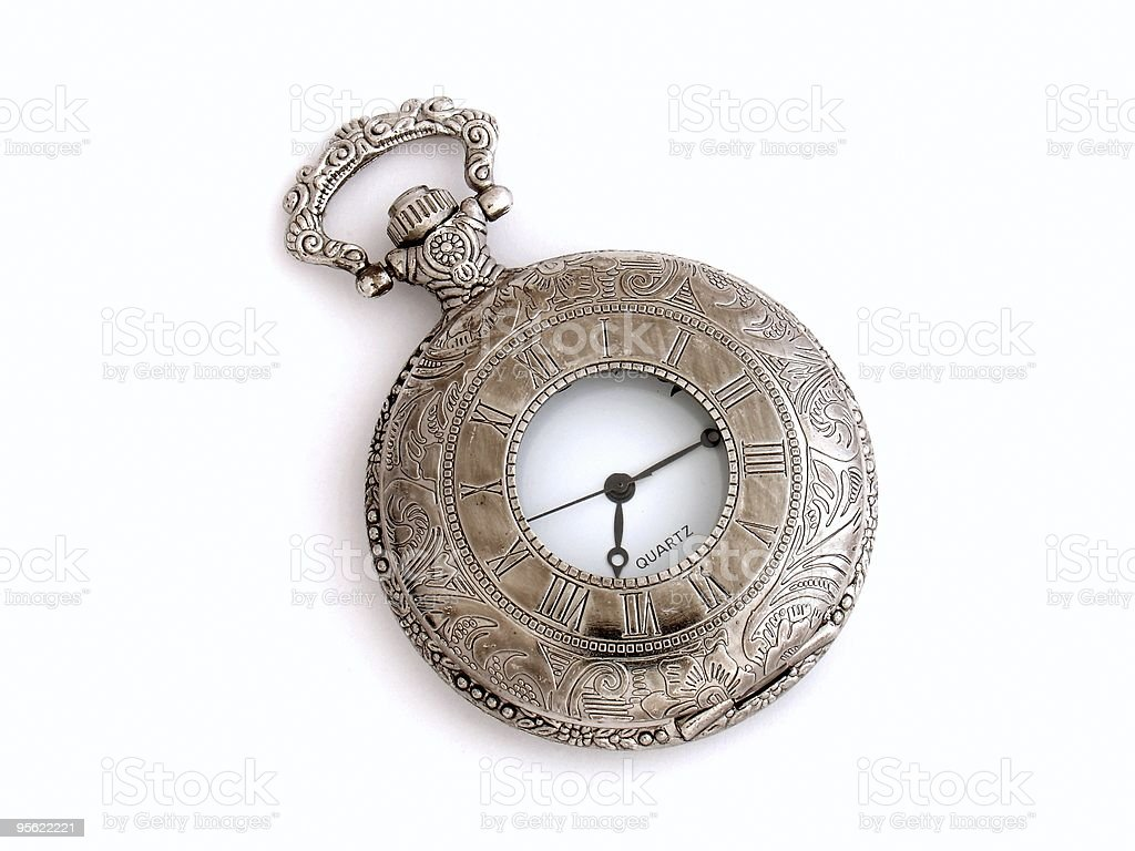pocket watch isolated royalty-free stock photo