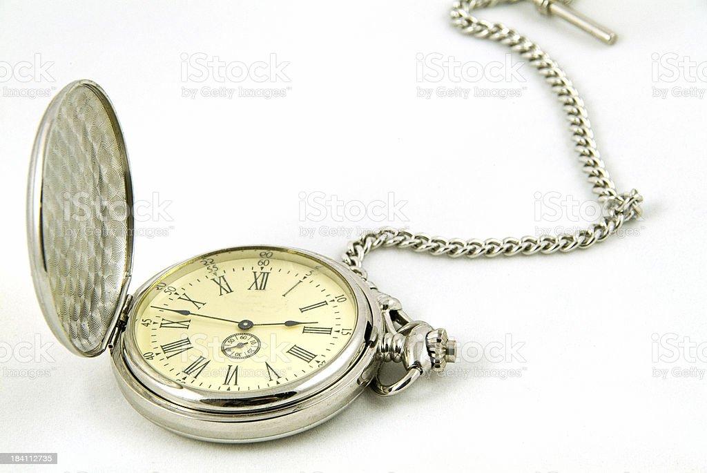 pocket watch on white background royalty-free stock photo