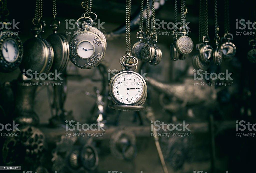 pocket watch stock photo