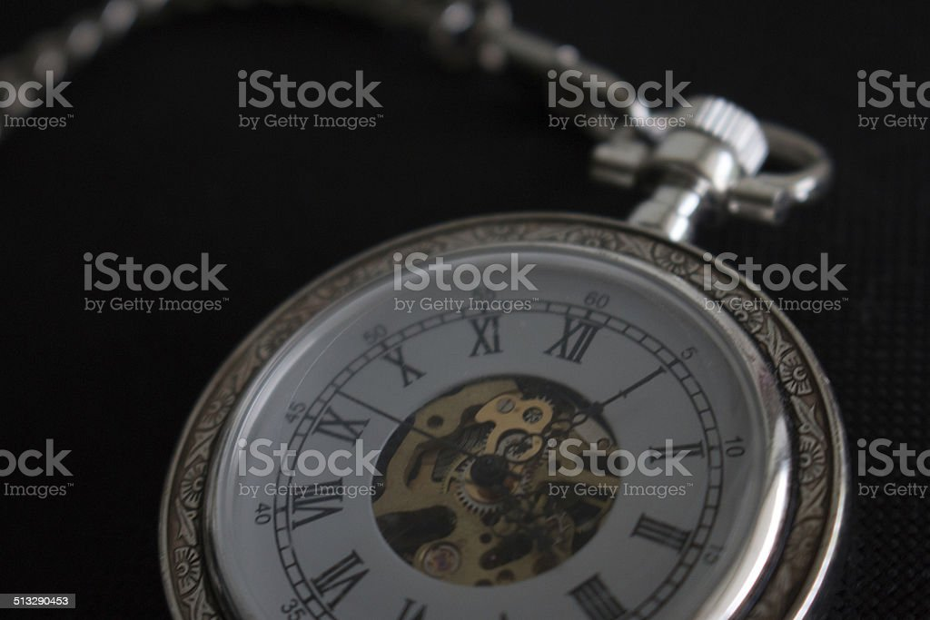 Pocket Watch Roman Numerals stock photo