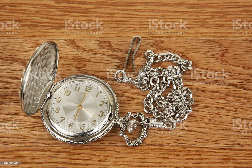 Pocket Watch Six O'clock stock photo