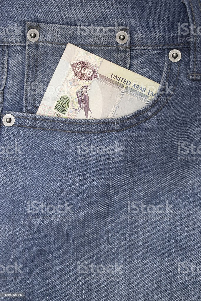 Pocket with money royalty-free stock photo