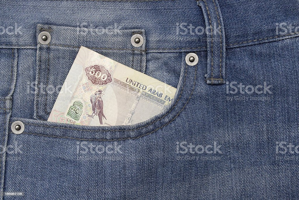 Pocket with money royalty-free stock photo