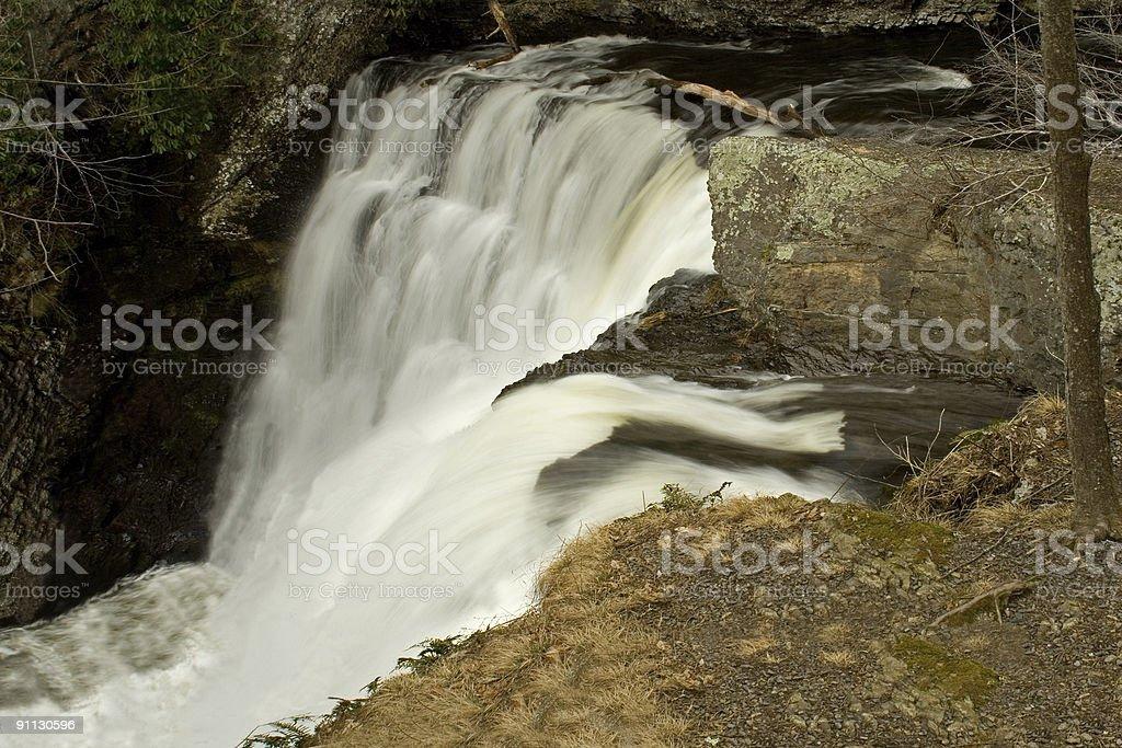 Poconos Waterfall stock photo