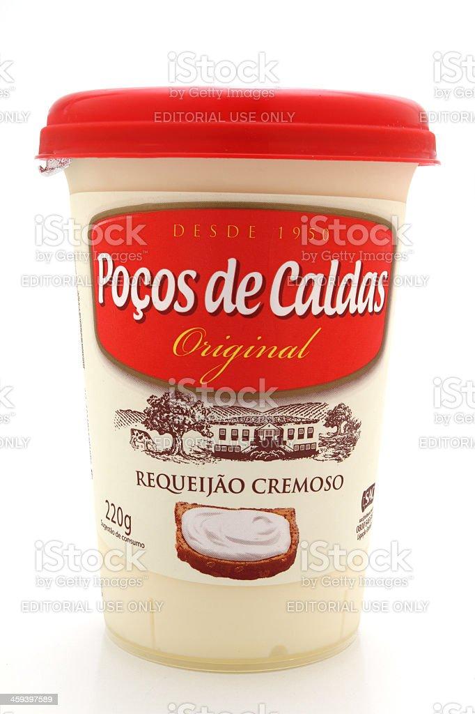 Pocos de Caldas cream cheese royalty-free stock photo