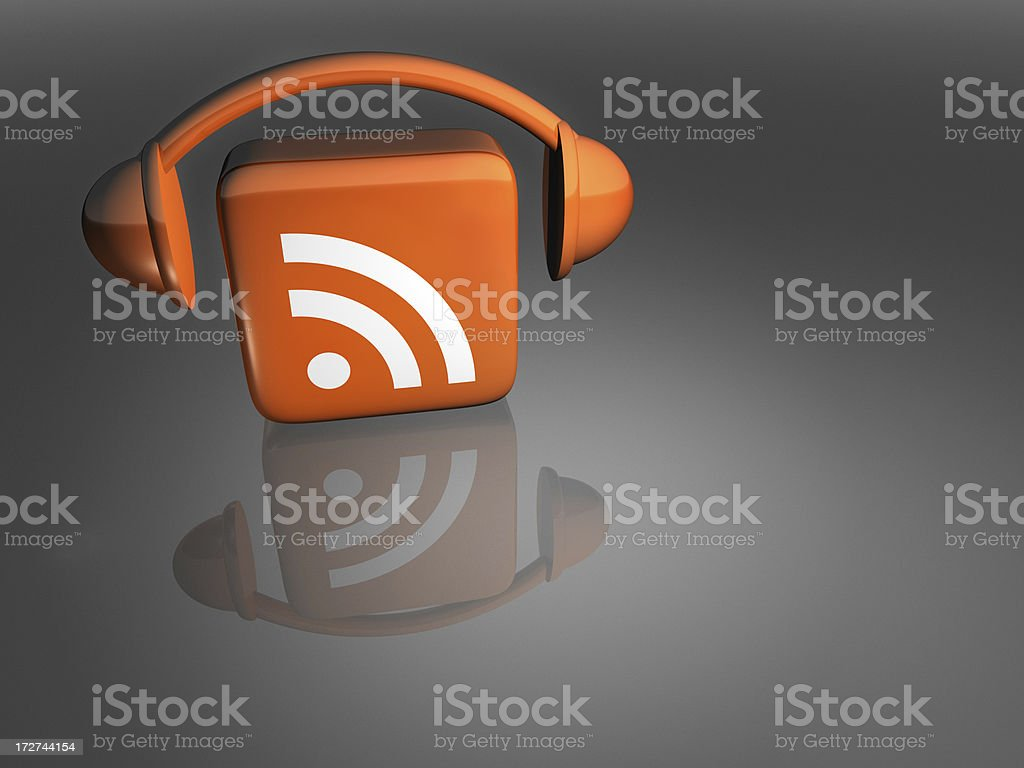 Podcast Icon - Face-On royalty-free stock photo