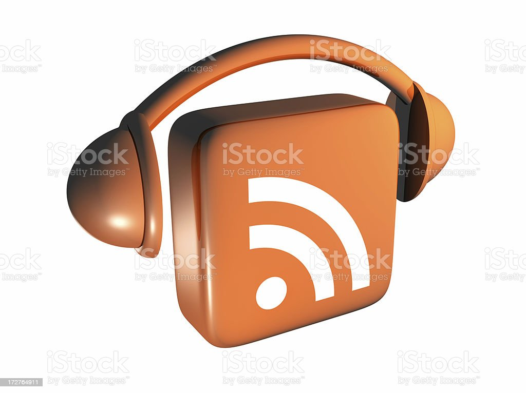 Podcast Icon - From Above royalty-free stock photo