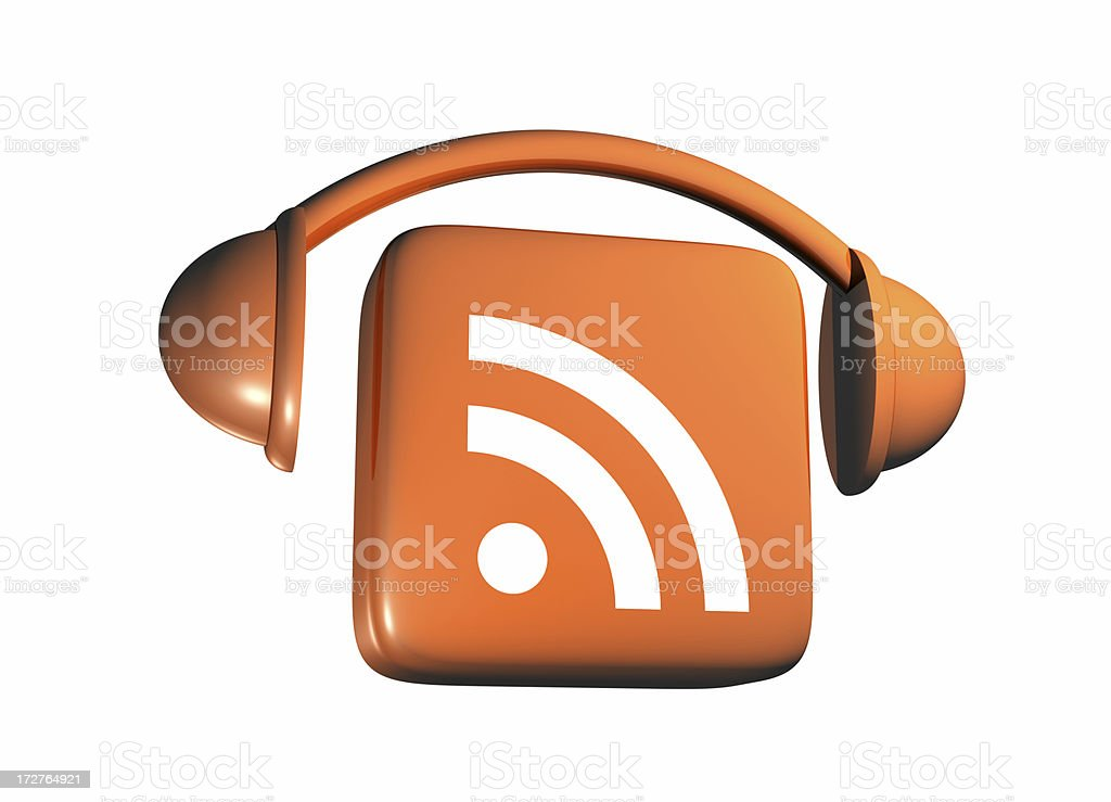 Podcast Icon - From Side royalty-free stock photo