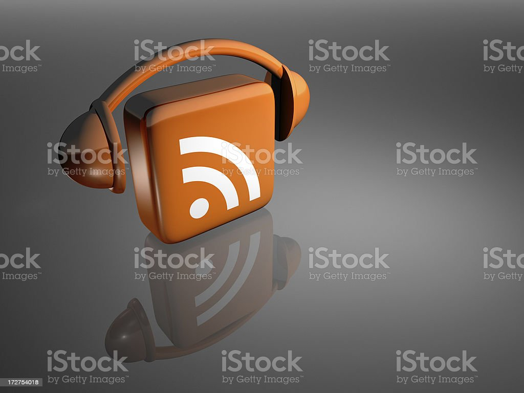 Podcast Icon - Grey From Above royalty-free stock photo