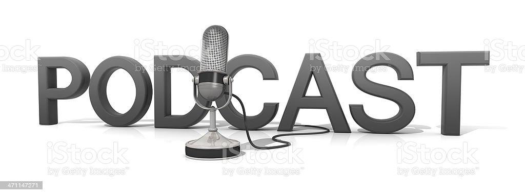 Podcast stock photo