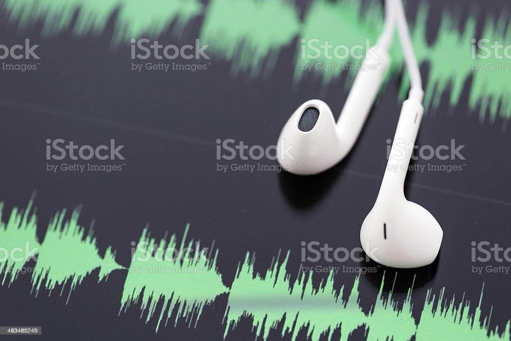 Podcasting royalty-free stock photo