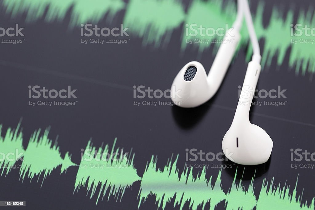 Podcasting stock photo