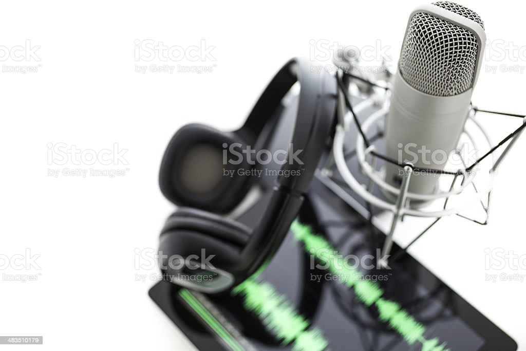 Podcasting royalty-free stock photo
