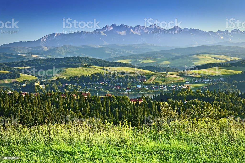 Podhale and Tatra Mountains, Poland stock photo