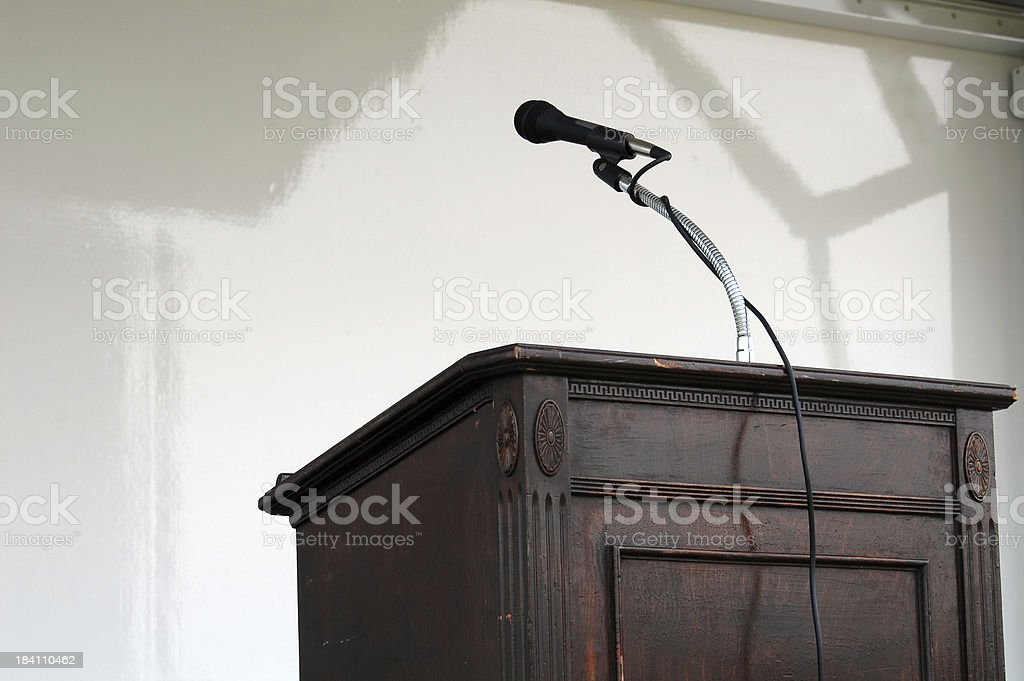 Podium and Mic royalty-free stock photo