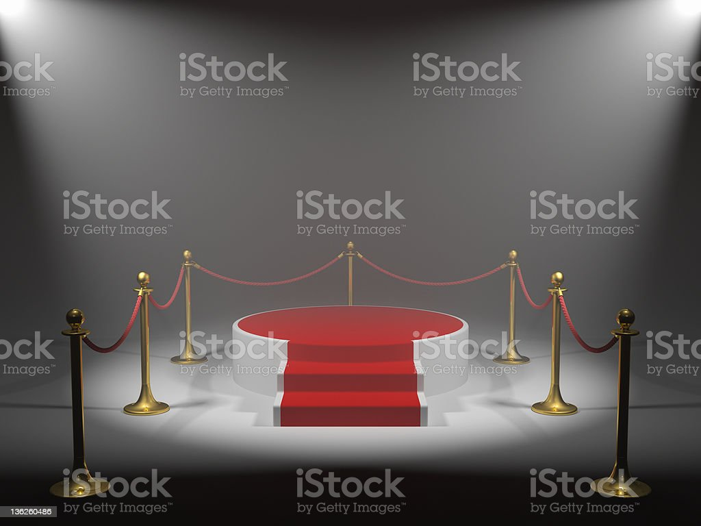 Podium for winner royalty-free stock photo
