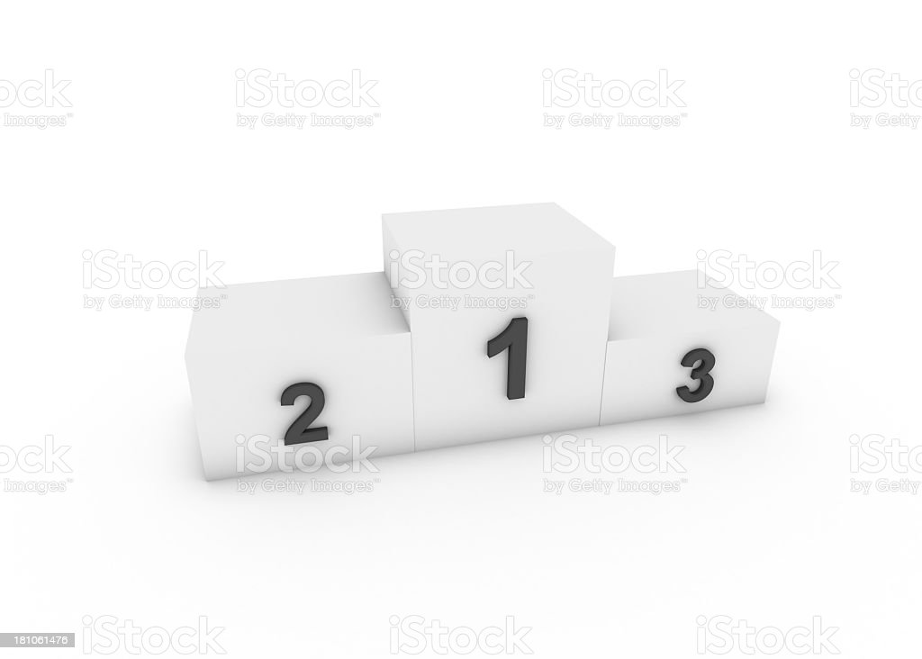 Podium of the winners royalty-free stock photo