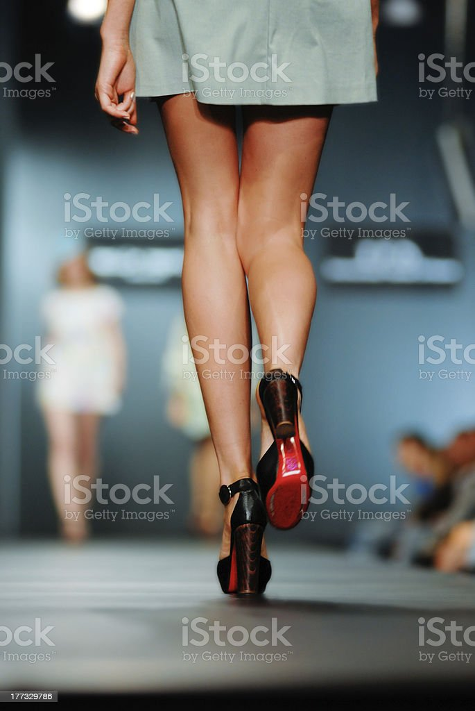 Podium on fashion show stock photo