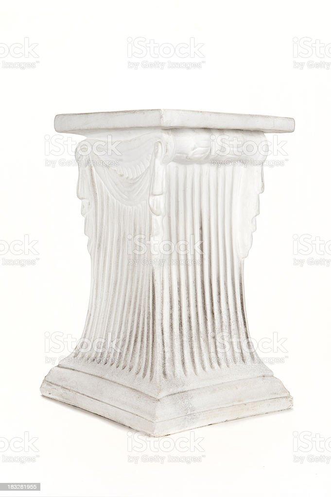 podium on white royalty-free stock photo
