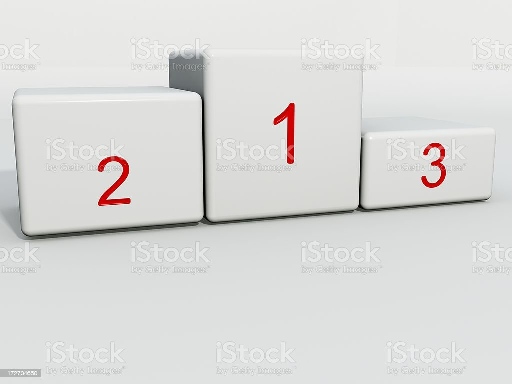 podium 3D royalty-free stock photo