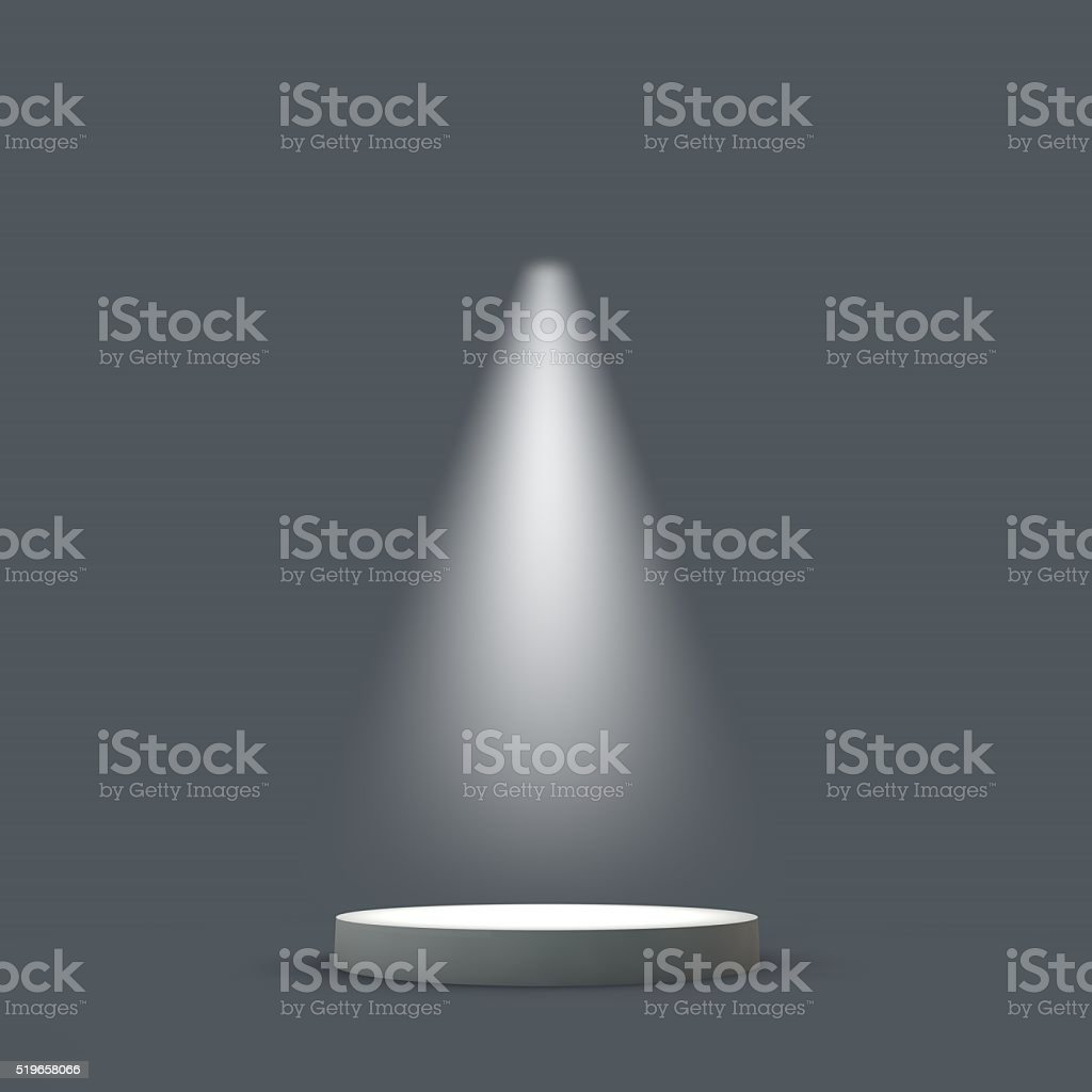 Podium stage in a spotlight stock photo