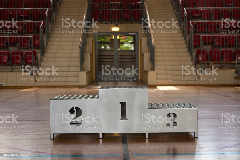 Podium with numeral royalty-free stock photo