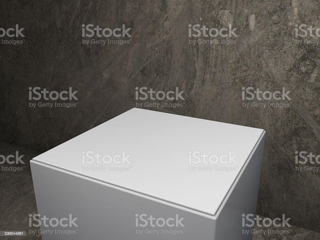 podium with old background stock photo