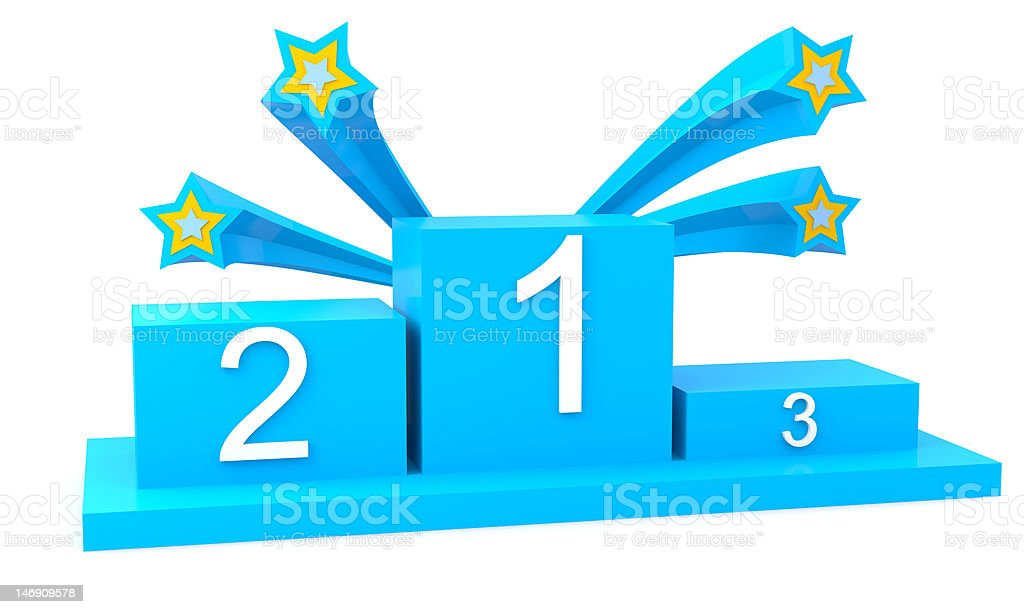 Podium with stars royalty-free stock photo