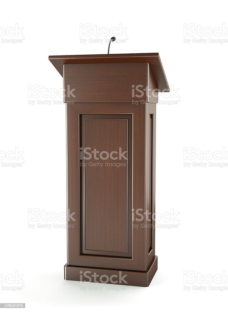 Podium Wooden stock photo