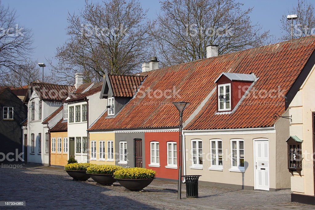 Poet Hans Christian Andersen home town Odense stock photo
