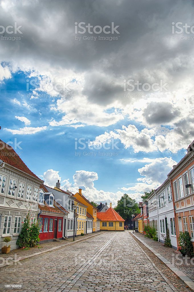 Poet Hans Christian Andersen home town Odense royalty-free stock photo