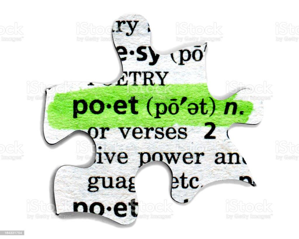 Poet stock photo