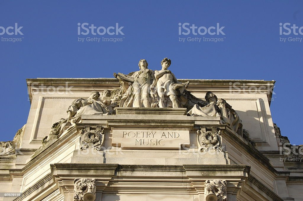 Poetry and Music royalty-free stock photo