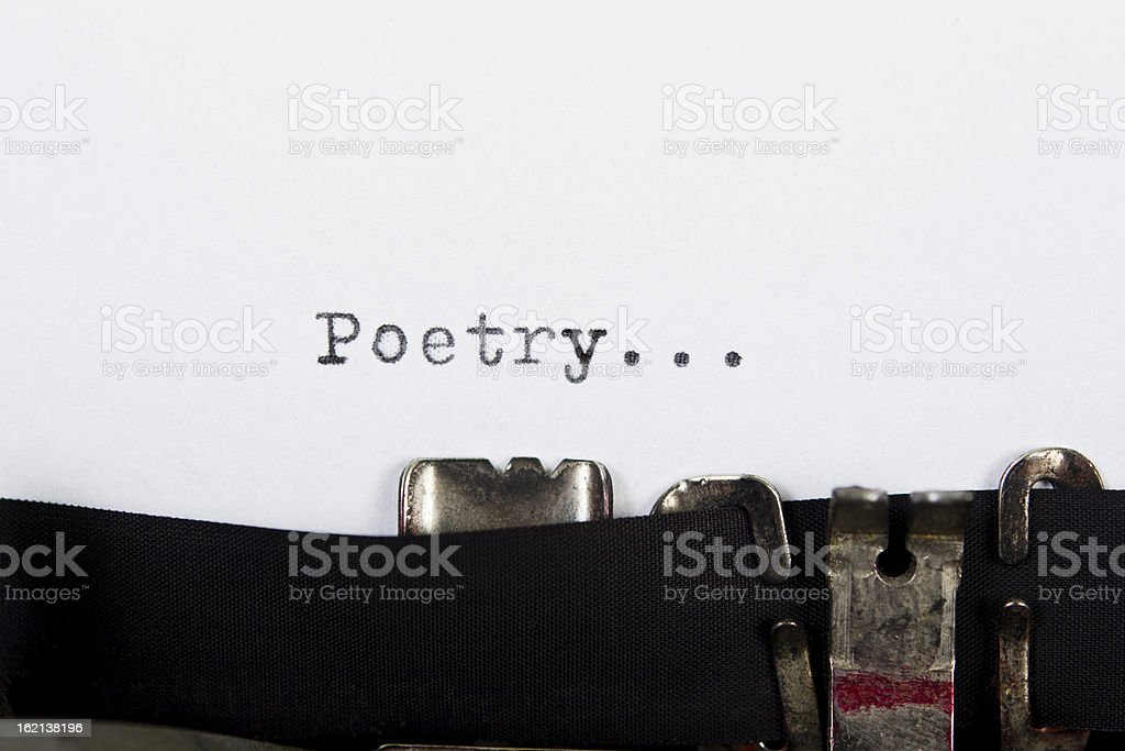 Poetry character in white background stock photo