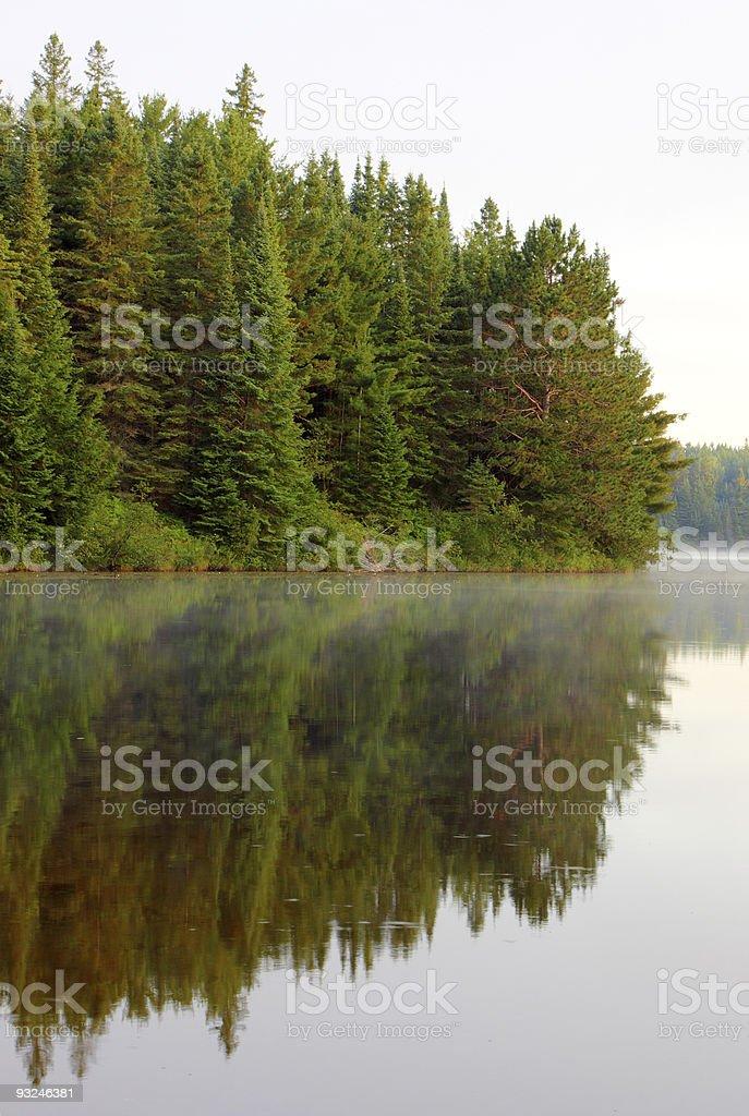 Pog Lake Reflection royalty-free stock photo