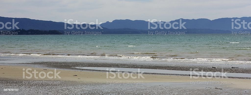 Pohara Beach, New Zealand stock photo