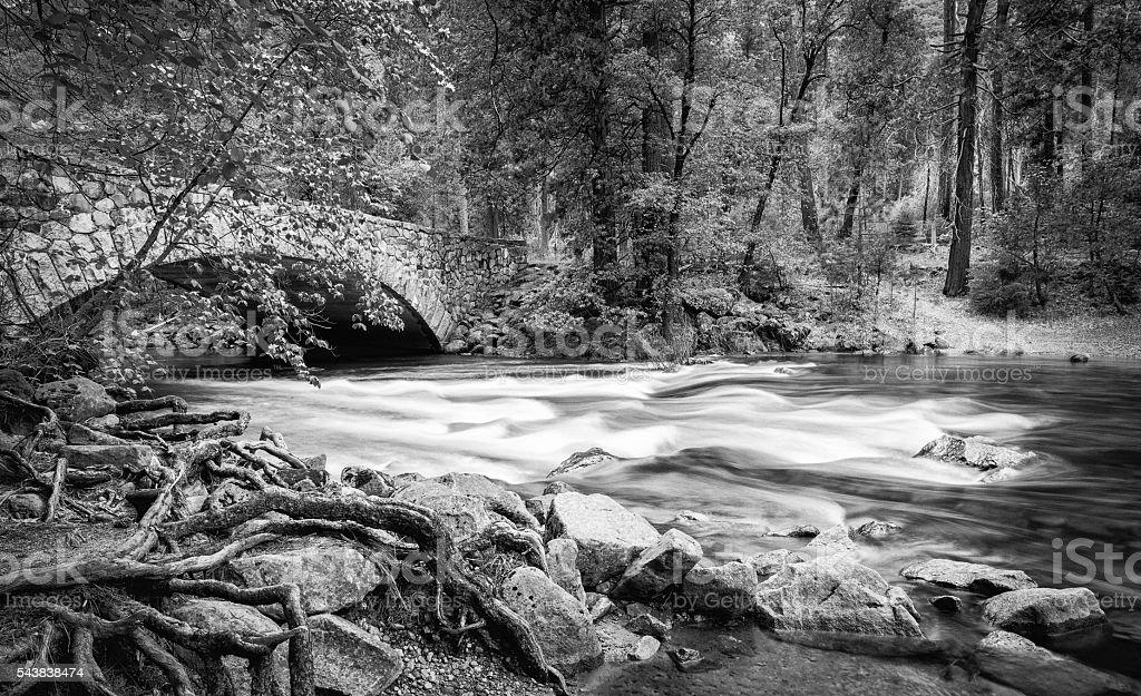 Pohono Bridge Yosemite stock photo