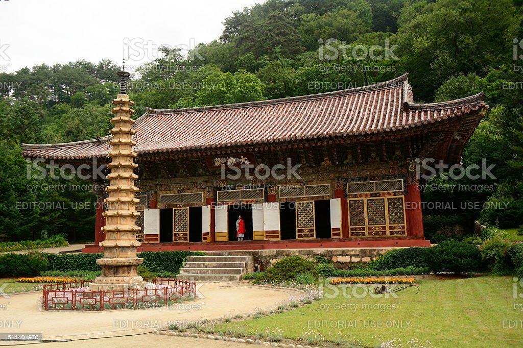Pohyon Buddhist temple, North-Korea stock photo
