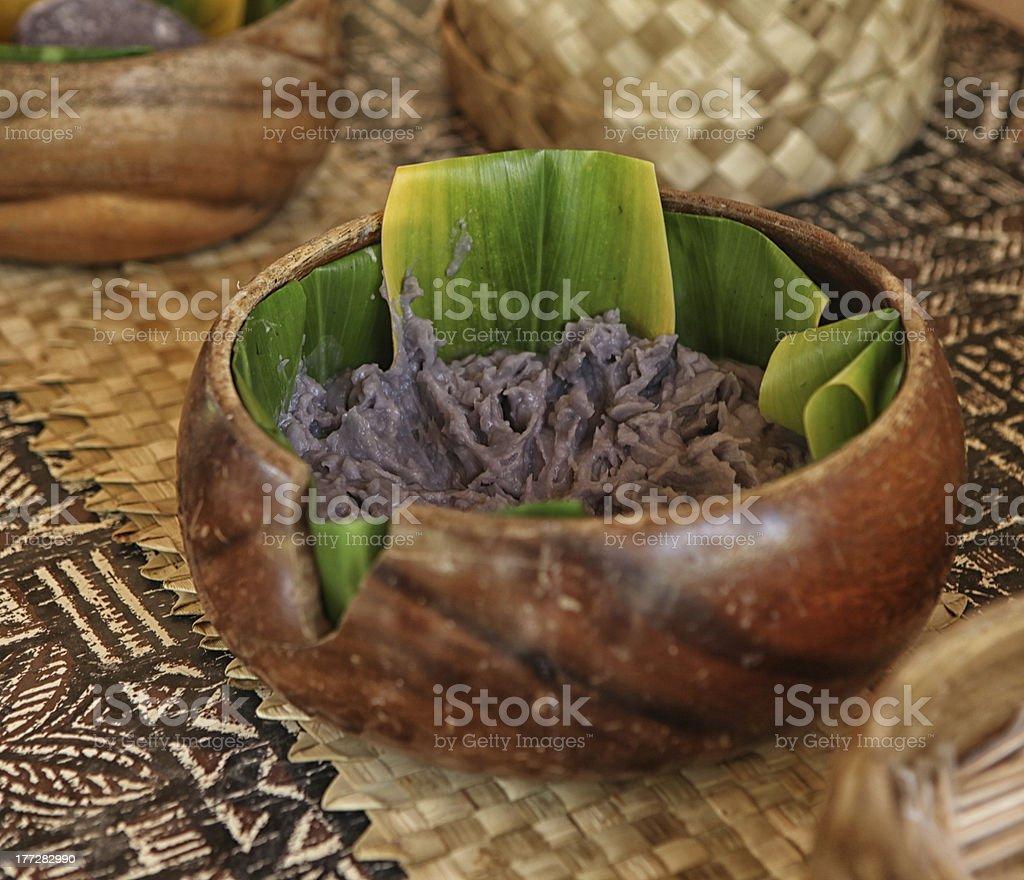 Poi for the Taro Root stock photo