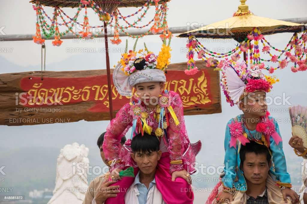 Poi Sang Long, Mae Hong son stock photo